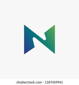 logo N vector, icon N concept, alphabet N vector abstract