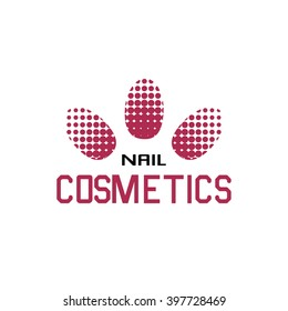 Logo nails for business. Nail technician, nail bar or saloon manicure.