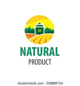 logo natural product, farm