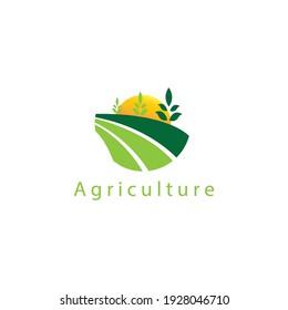 logo nature circle agricultural symbol vector design illustration