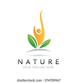 Logo Nature Man Icon Element Template Design Logos