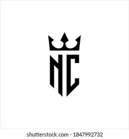 logo NC or CN with crown icon vector.