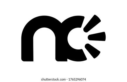 logo nc design vector syimbol
