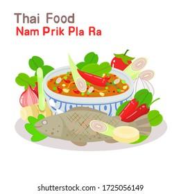 Logo Num Prik Pla Ra with Pickled Fish  Paste Chili dip