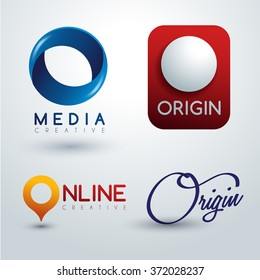 Logo O Design : Corporate Identity Logo : Vector Illustration