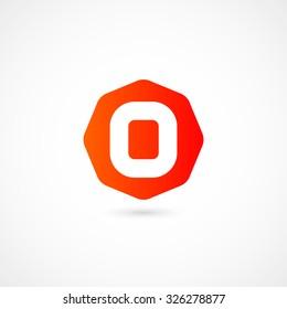 Logo O letter. Isolated on white background. Vector illustration, eps 10.