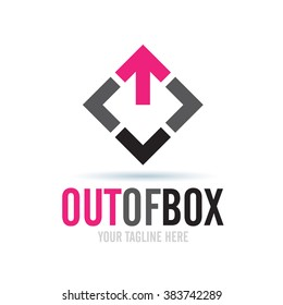 Logo Out Of Box Icon Element Template Design Logos