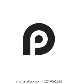 Logo P Vector. Letter P Abstract Logo. Alphabet Symbol Abstract