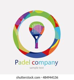 Logo paddle: paddle racket. Many colors