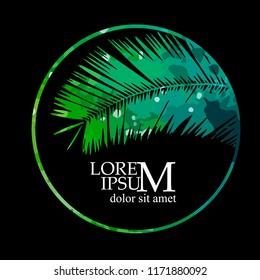 Logo palm leaf