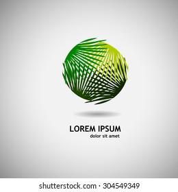 Logo palm leaves. Vector