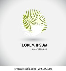 Logo palms. Vector