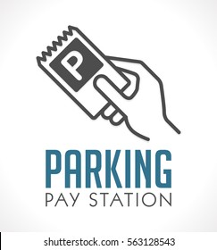 Logo - Parking card or ticket - pay station concept