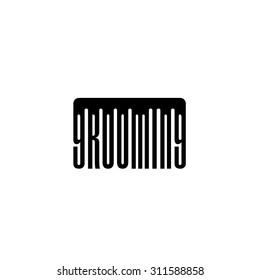 Logo for pet grooming salon.  Vector pet grooming logo.