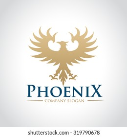 Logo phoenix,Phoenix logo,Eagle logo,Business card,Vector logo template