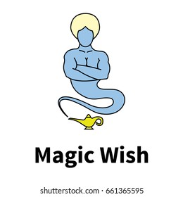 Logo with picture magic genie