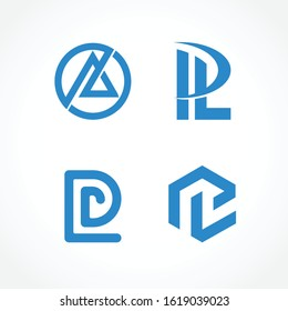 logo pl, initial pl, letter pl logotype