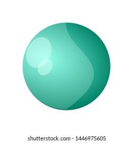 logo Planet Uranus vector illustration