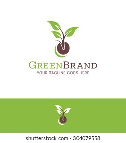 logo for plant or garden related business