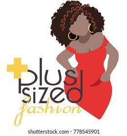 A logo for plus-sized clothing shop / boutique.