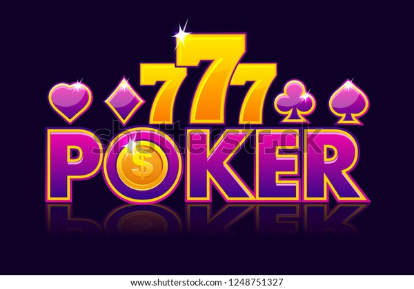 Logo Poker Background Lottery Casino Slot Stock Vector Royalty Free 1248751327