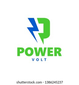 Logo power volt electrical silhouette lightning