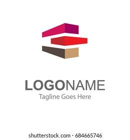 logo for property, real estate, apartment, residential, developer. illustration flat, modern, clean logo.