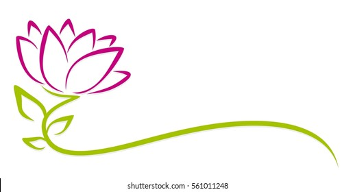 Logo purple flower.