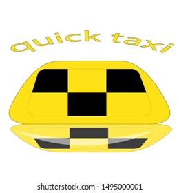 logo quick taxi isolated object background vector transport