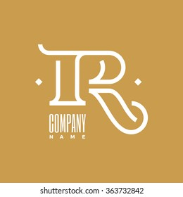 Logo R Letter Name Company. Stylish and modern logo for business. Vector illustration. Monoline