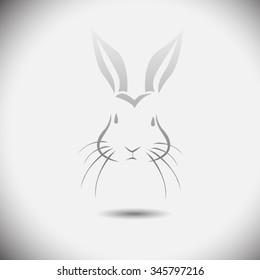 Logo rabbit. Vector