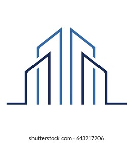 logo for real estate company. apartment buildings