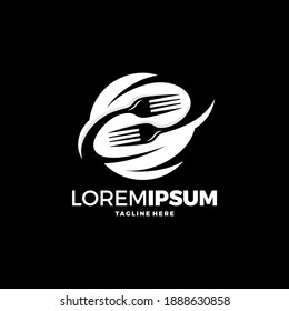 Logo restaurant with cutlery, A spoon and fork vector illustration
