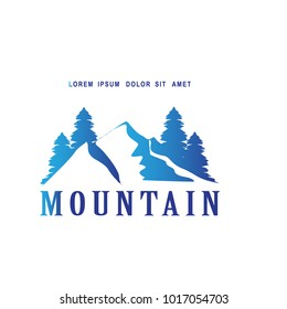 logo retro nature lovers, nature, climbing, hiking, adventure with flat gradient color style
