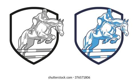 Logo riders on horseback
