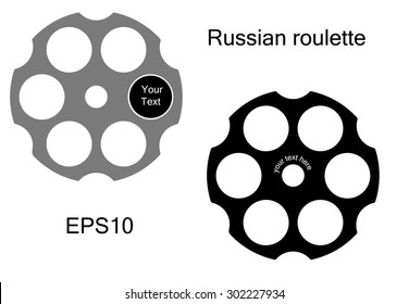 Logo Russian roulette style. Russian roulette icon. Vector illustration