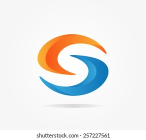 Logo S letter for company vector design template.