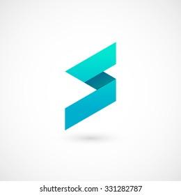 Logo S letter. Isolated on white background. Vector illustration, eps 10.