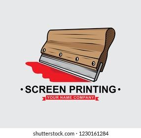 logo screen printing squeegee design, vector EPS 10