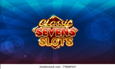 Logo screen for slots game. Vector illustration