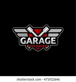 Logo for service repair of cars