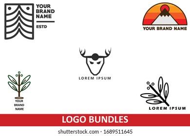 Logo Set Bundle Vector Design