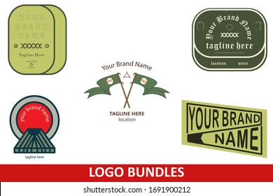 Logo Set Bundle Vector Design