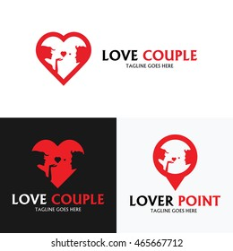 logo set , Logo collection ,Love couple logo ,Lover point logo ,Vector illustration