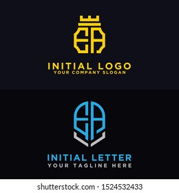 Logo Set EA modern graphic design, Inspirational logo design for all companies. -Vectors