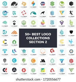 Logo set modern and creative branding idea collection for business company. simple logos, minimalist, abstract vector design, icon and favicon for brand identity