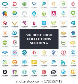 Logo set modern and creative branding idea collection for business. bundle logos suitable for icon/favicon company.