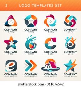 Logo set,logo collection,idea logo,family logo,people logo,creative logo design template,eco logo set, vector logo template. Modern logotype symbol icon set.