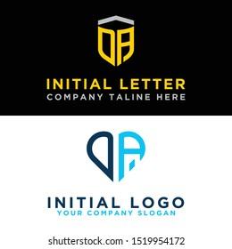 Logo Sets modern DA graphic design. Inspiring logo design for all companies. -Vectors