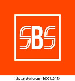 Logo shape initial letter sbs for business or company vector eps 10